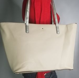 Kate spade ivory color leather tote womz  purses